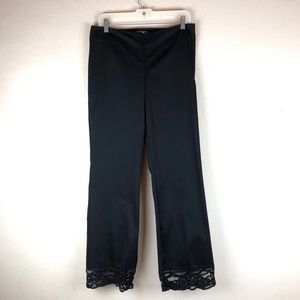 Cache | Long Lace Black Pants